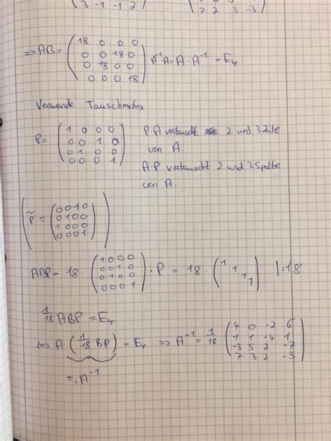 inverse berechnen tauschmatrix mathelounge