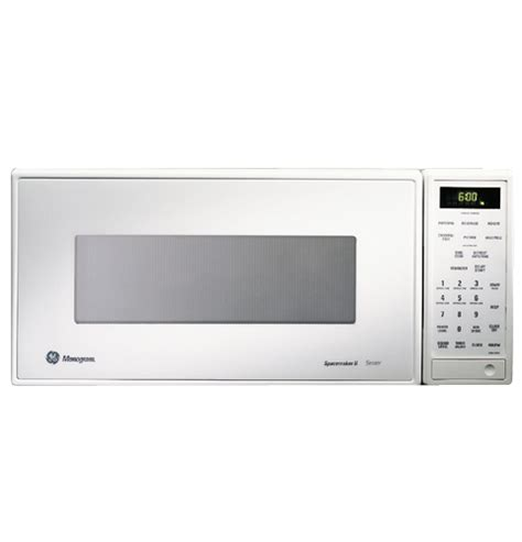 ge monogram white compact microwave oven  sensor cooking controls zemwy ge appliances