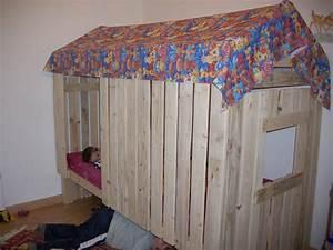 Construire Un Lit Cabane : un lit cabane mes cr ations en scrap ~ Melissatoandfro.com Idées de Décoration