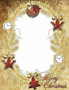 Gold PNG Merry Christmas Photo Frame with Stars   stuff ...