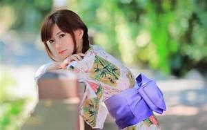 Beautiful, Japanese, Girl, Kimono, Summer, Wallpaper