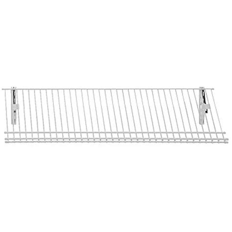 closetmaid shoe rack closetmaid shelftrack 36 in w 5 pair ventilated wire shoe