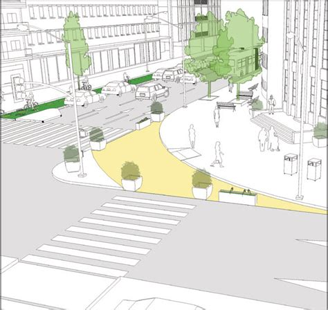 sidewalk extensions global designing cities initiative