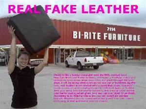 Real fake leather bi rite furniturewmv youtube for Bi rite furniture houston