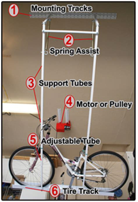Ceiling Bike Rack Horizontal by Motorized Garage Organization And Overhead Ceiling Systems