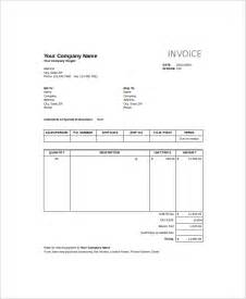 Invoice Templates Excel Sle Excel Invoice Template 9 Free Documents In Excel