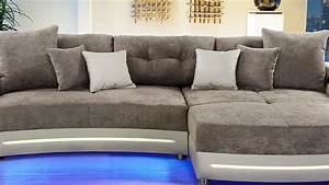 Sofa Mit Led Und Sound : wohnlandschaft laredo sofa in greige mit led und soundsystem ~ Indierocktalk.com Haus und Dekorationen