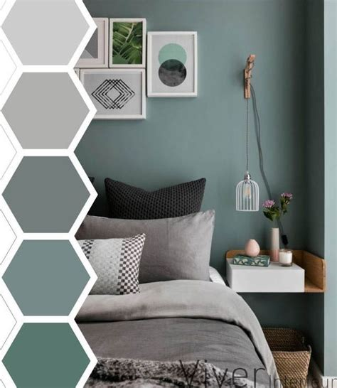 If you're looking for a diy furniture project that can spruce your bedroom, try this! Paint color | Master bedrooms decor, Bedroom green ...