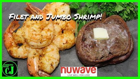 fryer air filet mignon bacon wrapped shrimp nuwave brio recipe jumbo