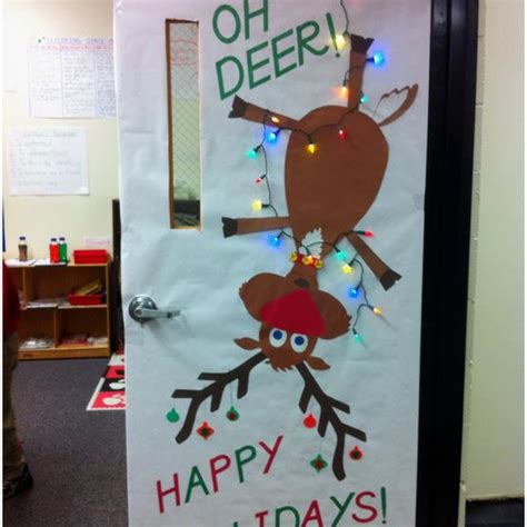 oh deer christmas bulletin board