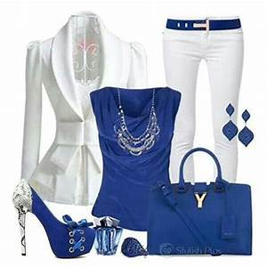 White and royal blue outfit | Beauty and fashion | Pinterest | Blue outfits Royal blue and Outfit