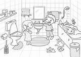 Bad Refugee Zaehneputzen Waschen Template Pages sketch template