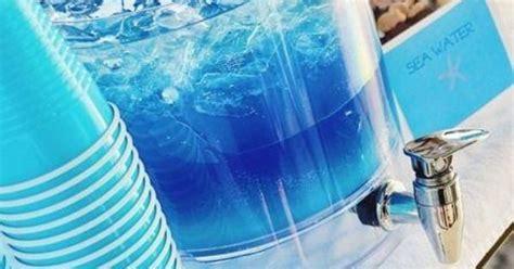 The Sea Salt Water. Blue Gatorade, Blue Hawaiian Punch