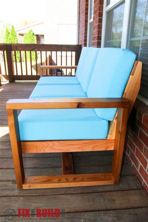 build  diy modern outdoor sofa fixthisbuildthat