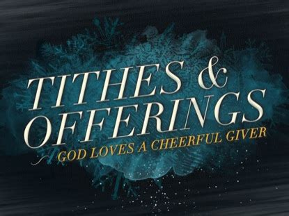 Church Tithes and Offerings