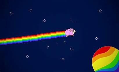 Nyan Cat Wallpapers Pixel Rainbow Space Sheep