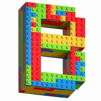Lego Font Blocks Letter Fonts Typeface Play