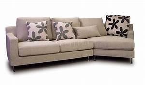 Light beige fabric modern sectional sofa w metal legs for Modern beige sectional sofa furniture