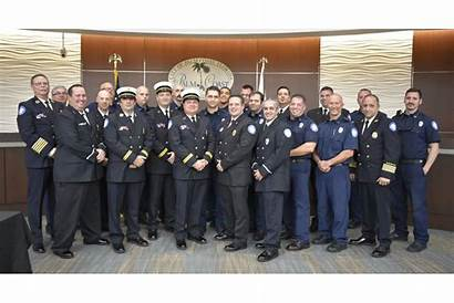 Palm Coast Ranks Ceremony Firefighters Pinned Jan