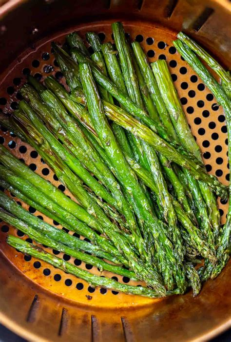 asparagus air fryer recipe keto recipes fried cook healthy airfryer basket roasted fresh