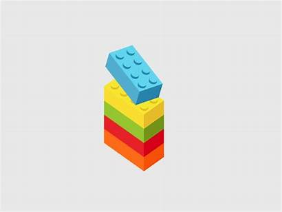 Lego Animation Build Loop Letter Graphics Dribbble