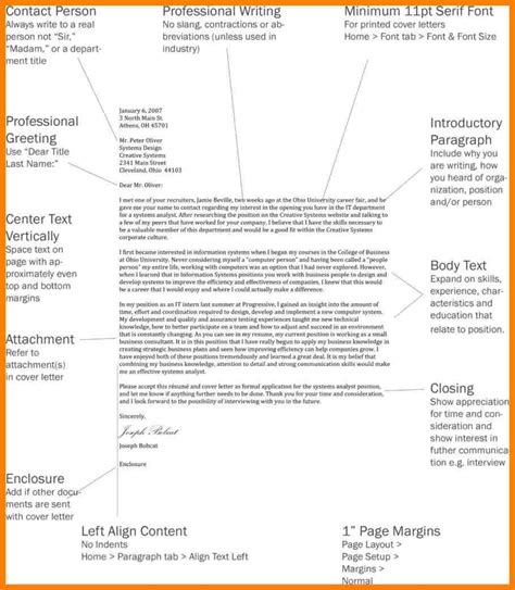 Cover Letter Format Spacing by Cover Letter Format Spacing Exles And Forms