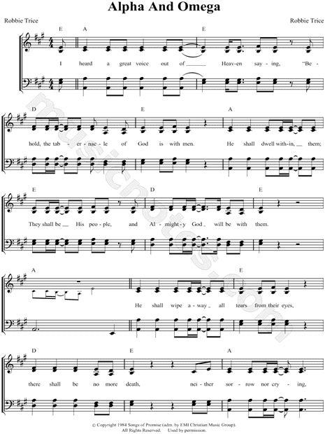 gaithers alpha  omega hymn choral sheet