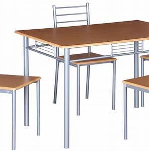 Ensemble Table Et Chaise Cuisine : ensemble table et chaises table de cuisine et salle manger 4 ch ~ Melissatoandfro.com Idées de Décoration