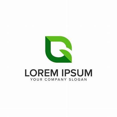 Leaf Letter Template Vector Clipart Concept Resources