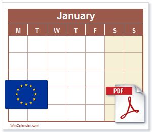 eu calendar  printable calendar