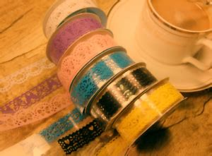 transparent lace pattern tape deco craft  adhesive