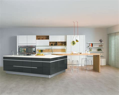 cuisine contemporaine avec ilot central cuisine avec îlot central modèle sensations