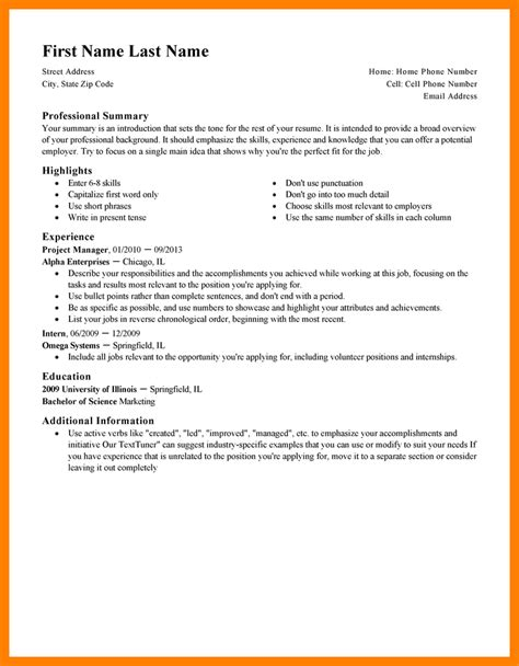 Resume Template by 9 Resume Exle Writing A Memo