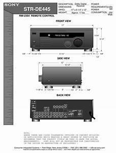 Sony Str-de445  Fm