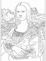 Coloring Famous Paintings Artist Mona Lisa Artists Cliparts Painting Monalisa Colouring History Artwork Para Worksheets Arte Take Sheets Library Colorear sketch template