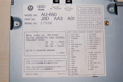 info au 650 xr 7v401 stereo will s audi a4 quattro b5 worklog