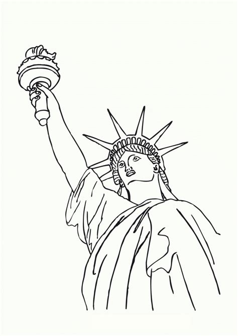 Coloring Templates For by Free Printable Statue Of Liberty Coloring Pages For