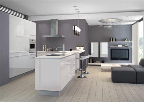 cuisine blanche avec ilot central cuisine equipee avec ilot central cuisine en image
