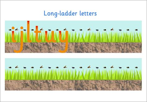 long ladder letter formation  early years primary
