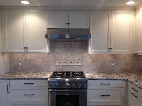 porcelain backsplash  custom mosaic stove accent inlay