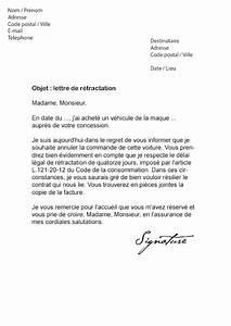 Delai Reponse Banque Pour Pret Immobilier : lettre de r tractation achat voiture mod le de lettre ~ Maxctalentgroup.com Avis de Voitures