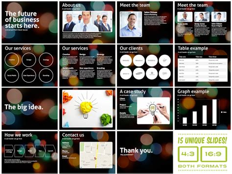 Pitch Deck Presentation Template Free by The Mega Powerpoint Presentation Deck Bundle