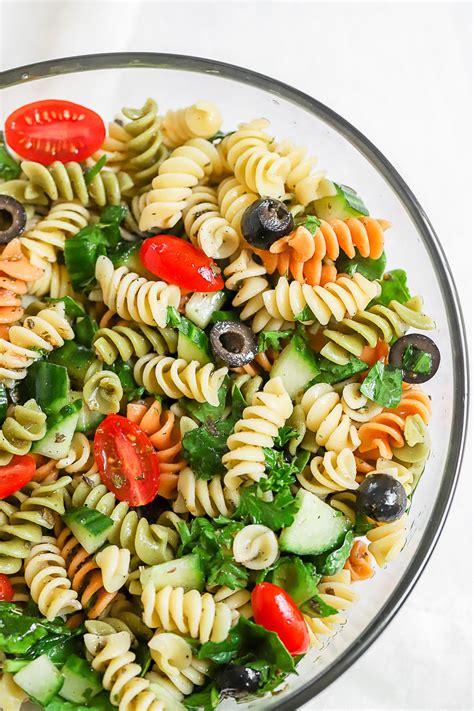 Warm puttanesca pasta salad recipe. Simple Summer Pasta Salad - Peanut Butter Fingers