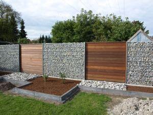 Glas und stein zaun gemischt sichtschutz garten zaun garten und garten. Gabionen und Holz | Garten, Garten ideen und Vorgarten gärten