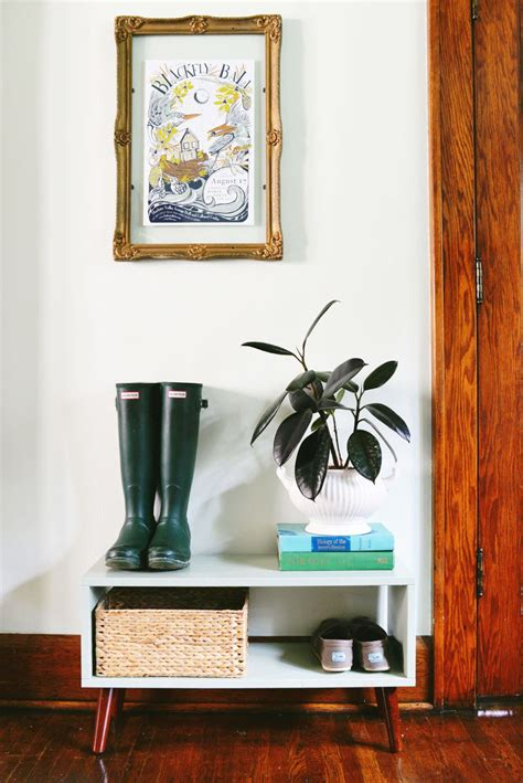 Diy Mid Century Modern Inspired Entry Shelf