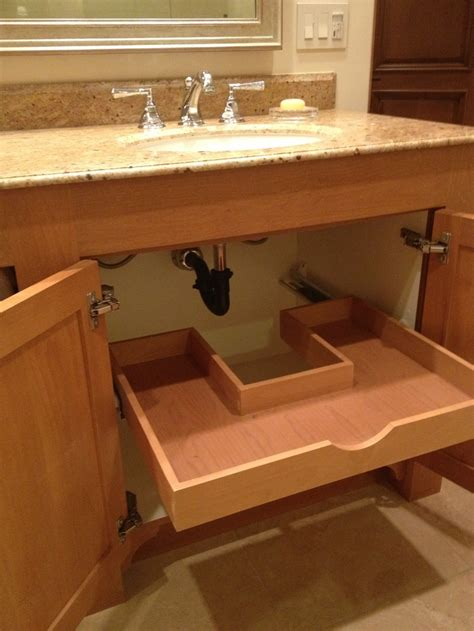 under sink drawers bathroom no wasted space custom sliding drawer under the bathroom