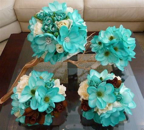 teal wedding bouquet 17 best ideas about teal wedding flowers on 7931