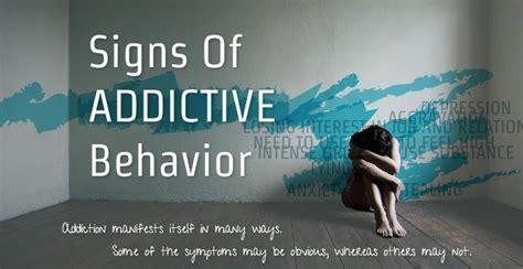 signs  addictive behavior