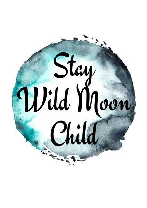 boho prints stay wild moon child poster