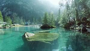 beautiful lake resort. aerial view. pond water nature ...